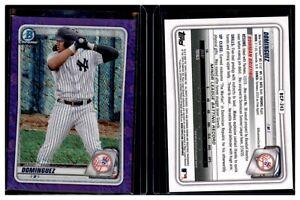 Jasson-Dominguez-2020-Bowman-Chrome-Yankee-Prospect-Purple-Shimmer-BCP-243