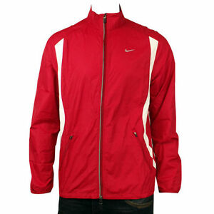 Mens-Nike-Dry-FIT-Red-Running-Training-Breathable-Microfibre-Jacket-Size-XS