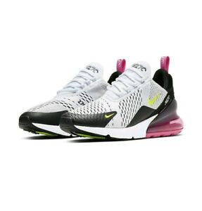 Dettagli su Nike AIR MAX 270 UK 9/EUR 44 US 10 Nero Rosa Volt Sneaker Uomo AH8050-109- mostra il titolo originale