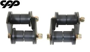 67 68 69 Chevy Camaro Cpp 3 4 Offset Rear Leaf Spring Shackles Kit