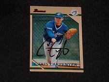 CHRIS CARPENTER 1996 BOWMAN SIGNED AUTOGRAPHED CARD #185 TORONTO BLUE JAYS