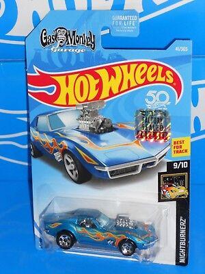 Hot Wheels 2018 Nightburnerz 68 Corvette Gas Monkey Garage blau