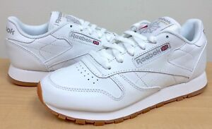 d2263daf2a8c0 Image is loading WOMENS-REEBOK-CLASSIC-LEATHER-49801-White-Gum