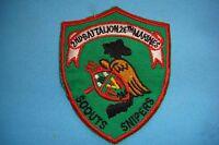 VIETNAM WAR GR PATCH, US 2nd BN 26th MARINE SCOUTS SNIPER