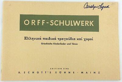 Reliable Vtg Orff-schulwerk 1963 Griechische Kinderlieder Und Tanze Music Book In Russian Strengthening Sinews And Bones Instruction Books, Cds & Video Voice