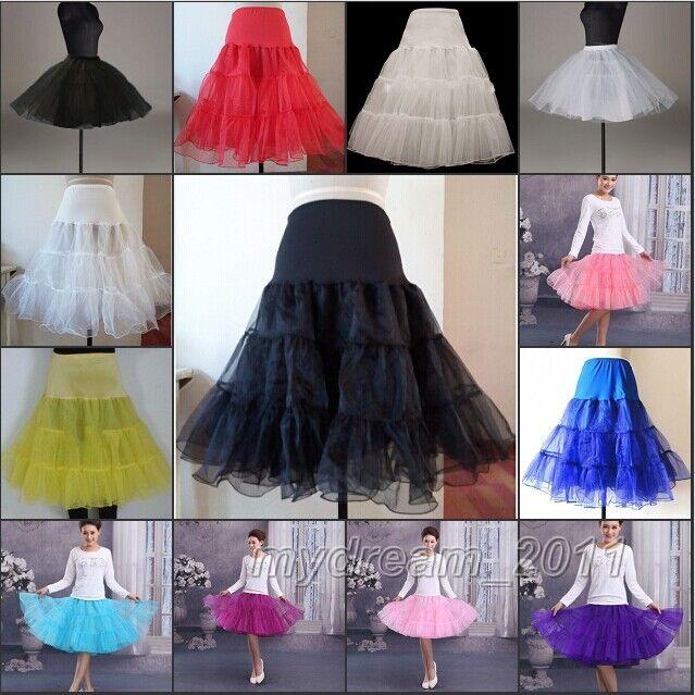 """26"""" 50s Retro Underskirt Swing Vintage Petticoat Fancy Net Skirt Rockabilly Tut"""