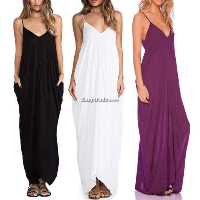 Sexy Boho Women Summer Casual Sleeveless Long Maxi Dress Beach Dress Sundress