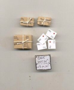 Parcels-Packages-amp-Letters-1-12-scale-dollhouse-miniature-IM65483-metal-7pcs