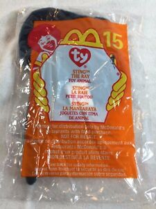 NEW 2000 McDonalds Happy Meal Toy Ty Beanie Baby #15 STING THE RAY