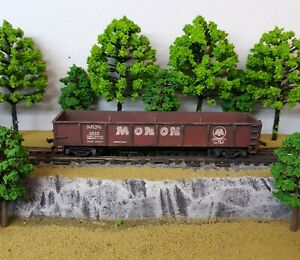 HO-Scale-Custom-Painted-Weathered-Train-Hoosier-Line-Monon-Gondola-Car