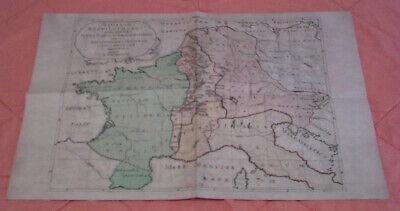 Das Lotharingische Reich Auf Einer Karte Des 18. Jahrhunderts - Replikat Hell In Farbe