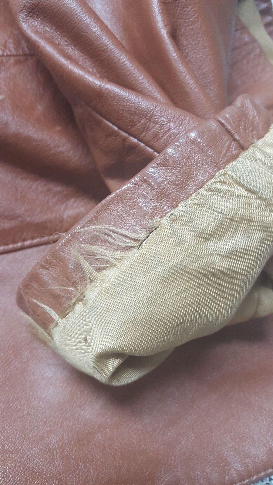 SILTON  Brown Leather 70s  Blazer Sport Coat Siz… - image 12