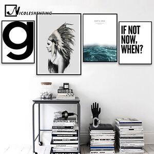 Nordic Art Girl Motivational Minimalist Art Canvas Poster Modern Home Decoration
