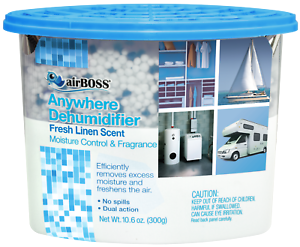 Pack of 6 Fresh Linen Scented airBOSS Anywhere Dehumidifier