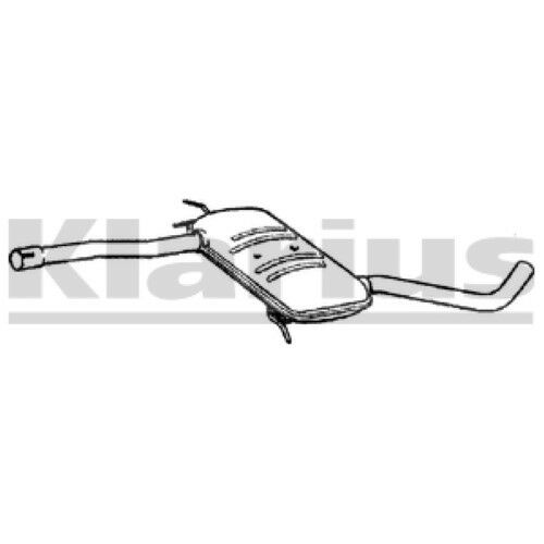 1x KLARIUS OE Quality Replacement Middle Silencer Exhaust For RENAULT Petrol