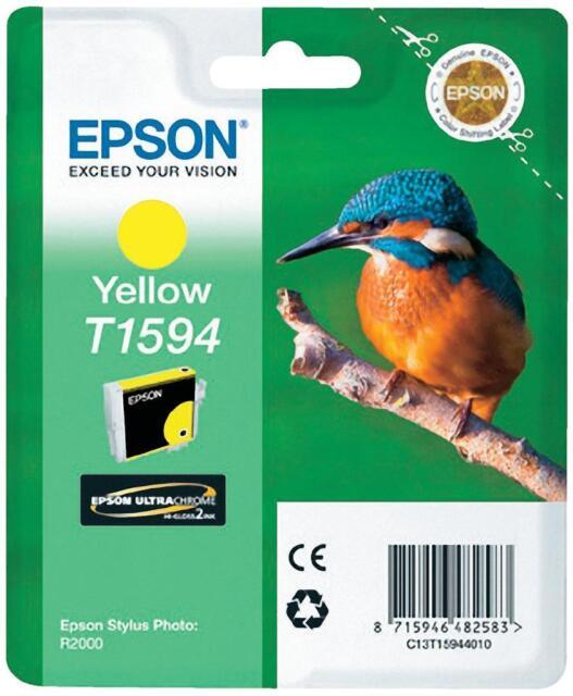 Original Epson T1594 Ink Cartridge Galb Stylus Photo R2000 C13T15944010