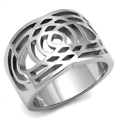 Women's Stainless Steel No Stone Fashion Ring 5 6 7 8 9 10 TK3039
