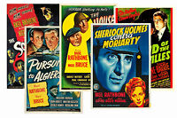 SHERLOCK HOLMES (BASIL RATHBONE SERIES) - SET OF 5 - A4 POSTER PRINTS # 2