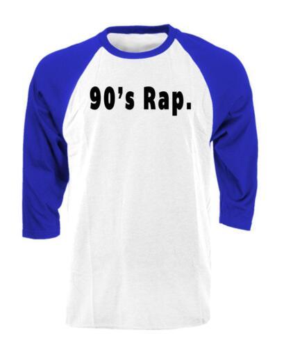 hip hop music Unisex Cotton 3//4 Sleeve Raglan T-Shirt 90/'s RAP