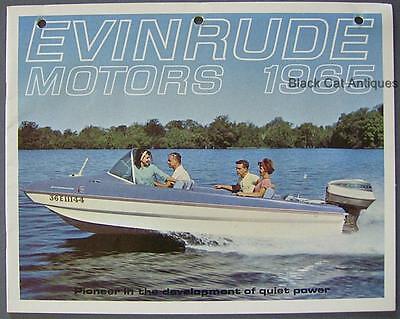 Original Vintage 1965 Evinrude Outboard Motors Color Brochure Booklet Canada Ebay