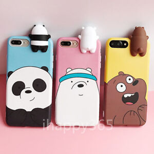 the best attitude 3ef74 268eb Details about 3D Doll Cartoon We Bare Bears Panda Soft TPU Case Cover For  iPhone X 8 7 Plus 6s