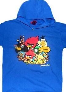 Star Wars Angry Birds The Force hooded t-shirt 4 5 6 7 8 10-12 14 16 18 New