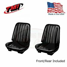 1966 Chevelle Coupe Black Bucket Seat/Rear Bench Upholstery by TMI - IN STOCK!!