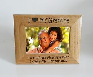 Grandpa Photo Frame I Heart Love My Grandma 6 X 4 Photo Frame