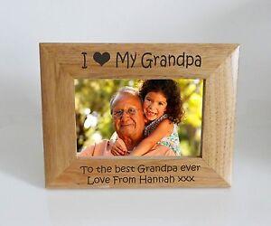 Grandpa Photo Frame I Heart Love My Grandma 6 X 4 Photo Frame
