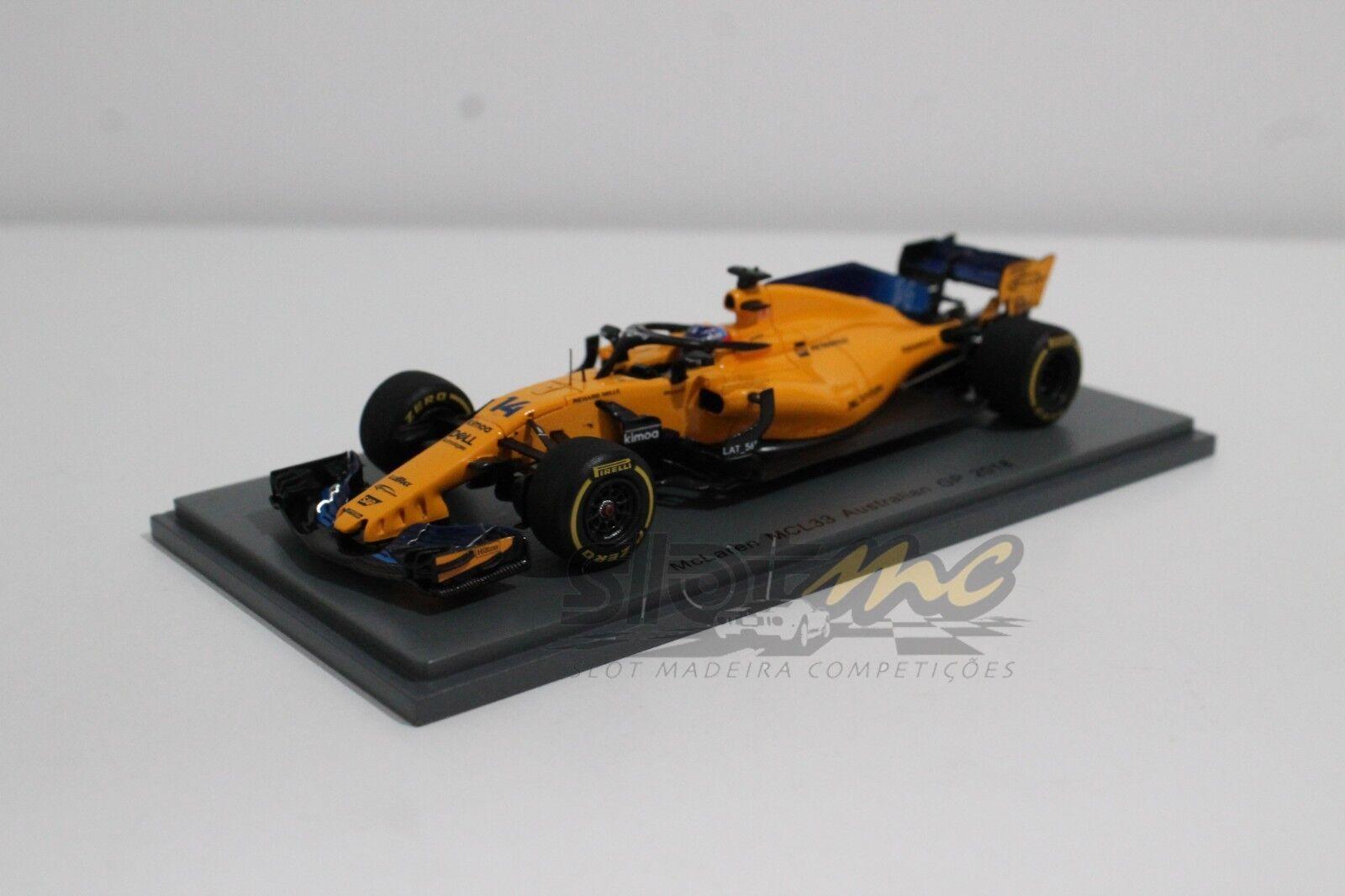 SPARK S6062 McLaren MCL33 Australian GP 2018 1 43  NEW
