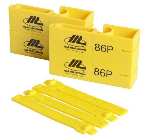 Marshalltown M86P Amarillo Plástico Cuerda Línea Bloques//Marcadores Para Ladrillo Trabajo