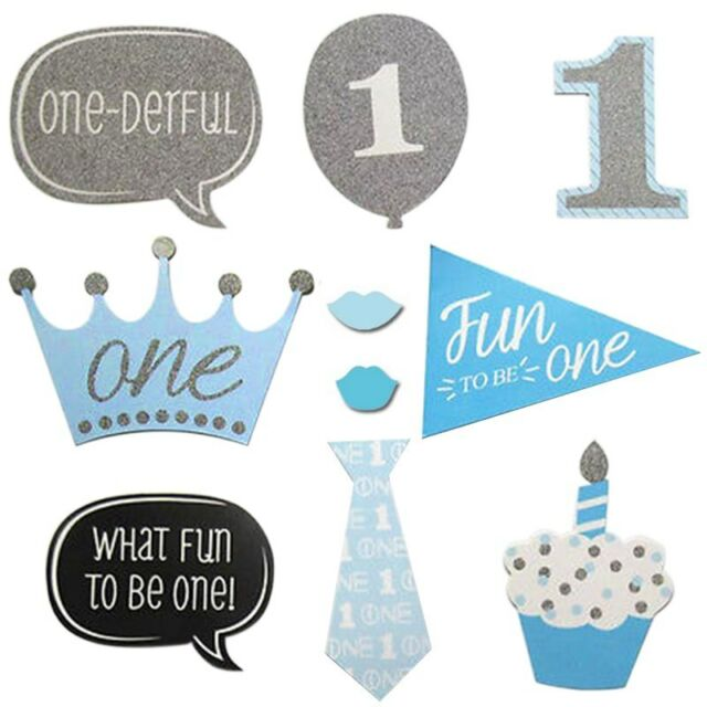20pcs Baby Shower Photo Booth Props Boy 1st First Birthday Party