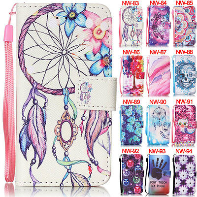 Campanula Wallet Leather Flip Case Cover Stand ID Card For iPod Touch 5th/6 6th