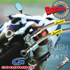 Suzuki-GT250A-76-Goodridge-Stainless-Steel-Front-Brake-Line-Race-Kit
