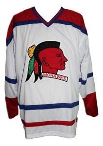 Custom-Name-Muskegon-Mohawks-Retro-Hockey-Jersey-New-White-Any-Size