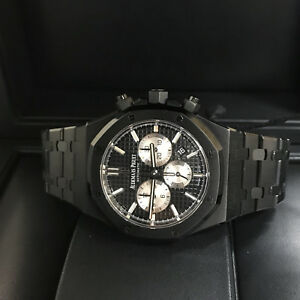 561e04baad6b0 Image is loading Audemars-Piguet-Royal-Oak-Chronograph-41mm-Black-Black-