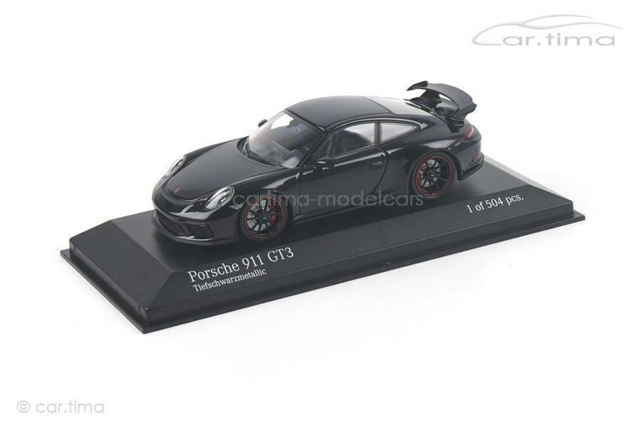 Porsche 911 gt3 (991  II) - Noir Intense met. - 1 OF 504-MINICHAMPS - 1 43 - 410  prix les plus bas