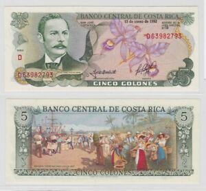 5-Colones-Banknoten-Costa-Rica-1992-kassenfrisch-138479
