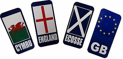 2 x GB Scotland Badge Car Number Plate Self-adhesive Sticker Wales England