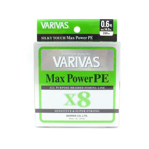 0350 Varivas P.E Linie Max Power X8 Lime Green 200m P.E 0.6 Max 14.5lb