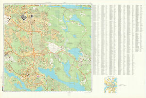 Russian Soviet Military Topographic Map STOCKHOLM Sweden - Sweden map topographic
