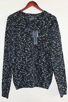 Mens Antony Morato Long Sleeve Sweater Xl Trim Slim Fit Wool Blend Black