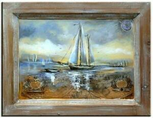 Painting-Oil-Painting-Picture-Oil-Frame-Pictures-Sea-Ships-Oil-Painting-G00091