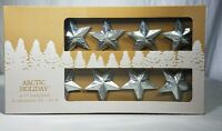 Metal Silver Star W/ Twine Garland Mantel Christmas Tree Decoration 6 Ft