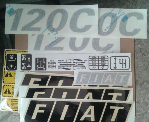 ADESIVI DECALCOMANIA TRATTORE FIAT 120C