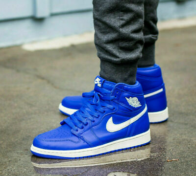 Nike Air Jordan 1 Retro High Og Mens Basketball Trainers 555088 Sneakers Shoes (UK 10 US 11 EU 45, Hyper Royal sail 401)
