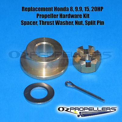 Honda 25 30hp Prop Propeller Hardware KIT Spacer,Thrust Washer Nut,Split Pin
