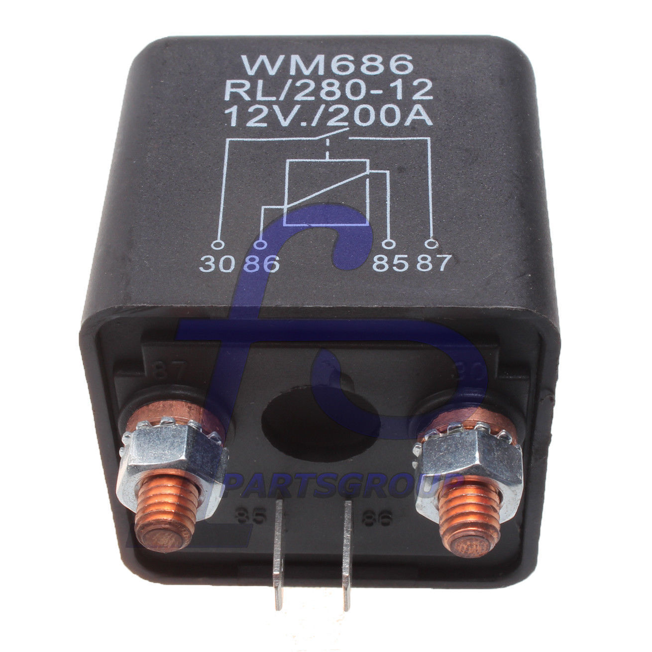 D DOLITY Heavy Duty Car SPST Relay 2 Pin 48V 200A 4 Terminal Accessories,Auto Switches and Starters