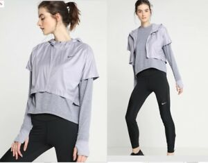 WOMENS-NIKE-RUN-DIVISION-THERM-SPHERE-ELEMENT-2in1-JACKET-TOP-SIZE-XL-AQ9821-581