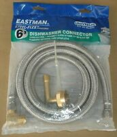 Eastman 41045 Stainless Steel Flex Universal 6' Dishwasher Hose Connector